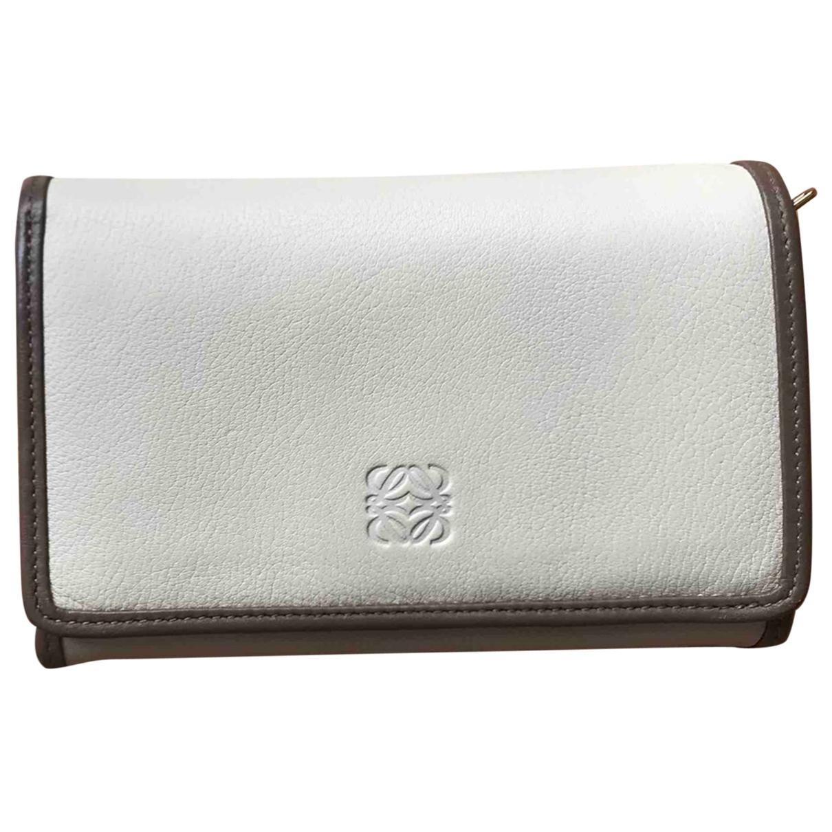 Loewe \N Portemonnaie in  Beige Leder