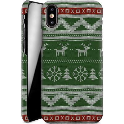 Apple iPhone XS Smartphone Huelle - Norwegian Jumper Green von caseable Designs