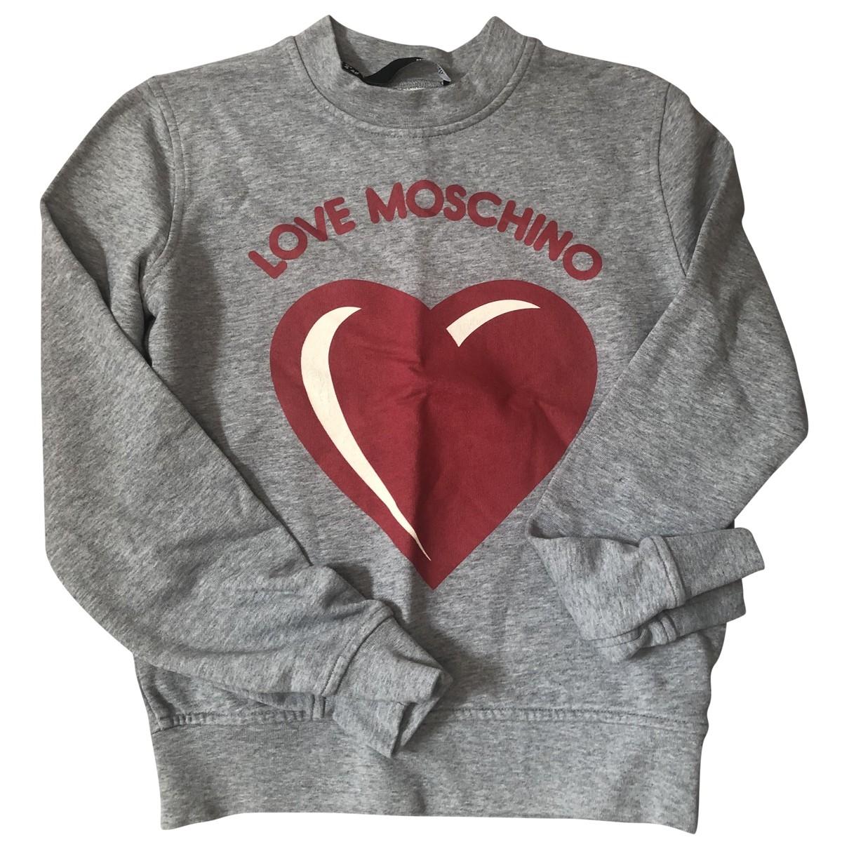 Moschino Love \N Grey Cotton Knitwear for Women 8 UK