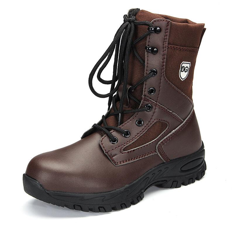 Men Outdoor Steel Toe Cap Slip Resistant Work Mid-Calf Safety Boots
