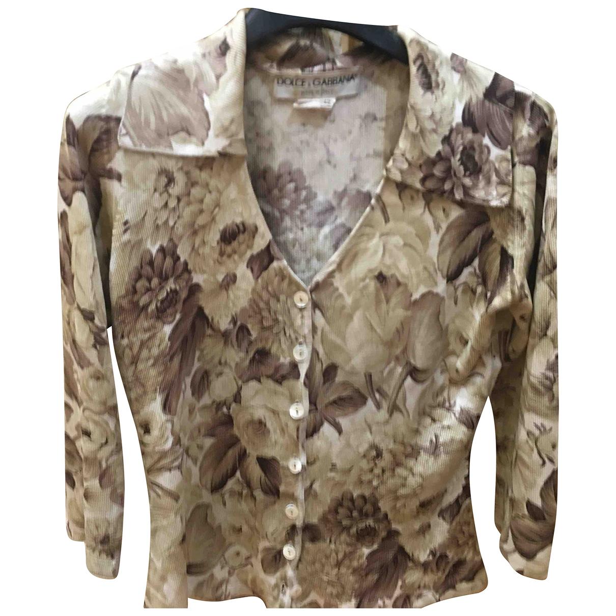 Dolce & Gabbana \N Beige Silk Knitwear for Women 42 IT