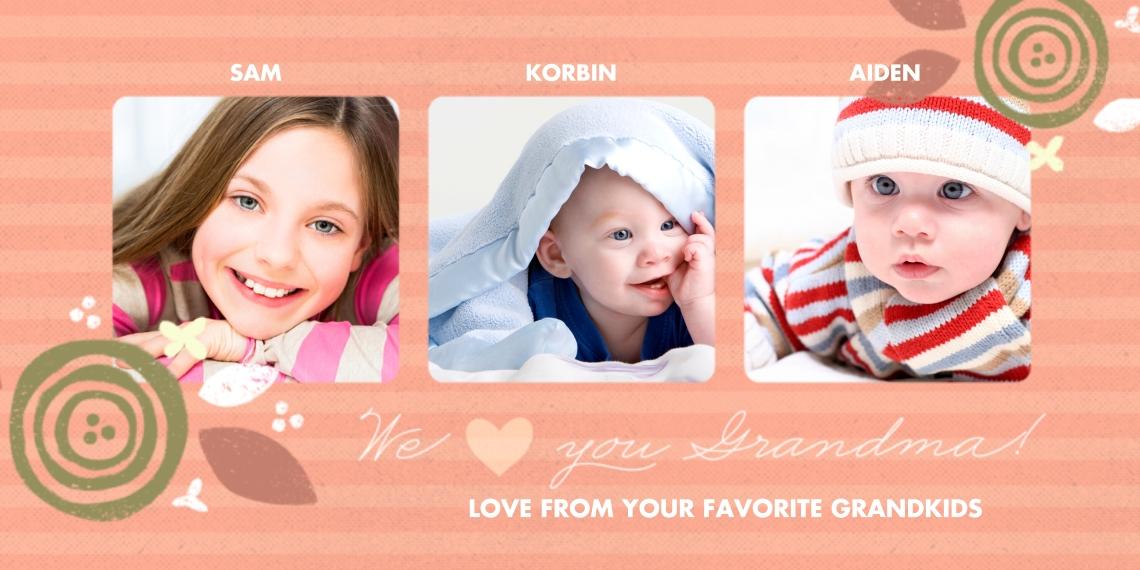 Valentine's Cards 4x8 Flat Card Set, 85lb, Card & Stationery -Grandma's Favorites