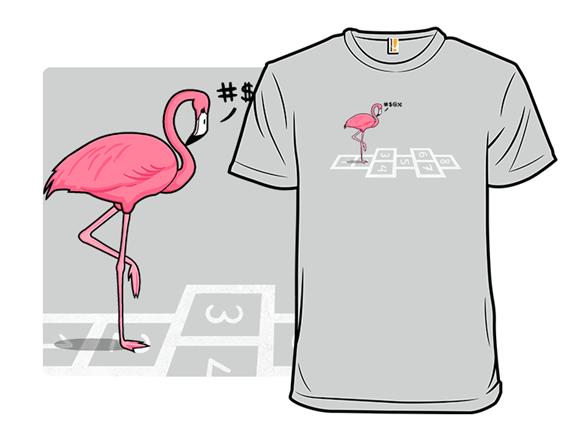 Hopping Flamingo! T Shirt