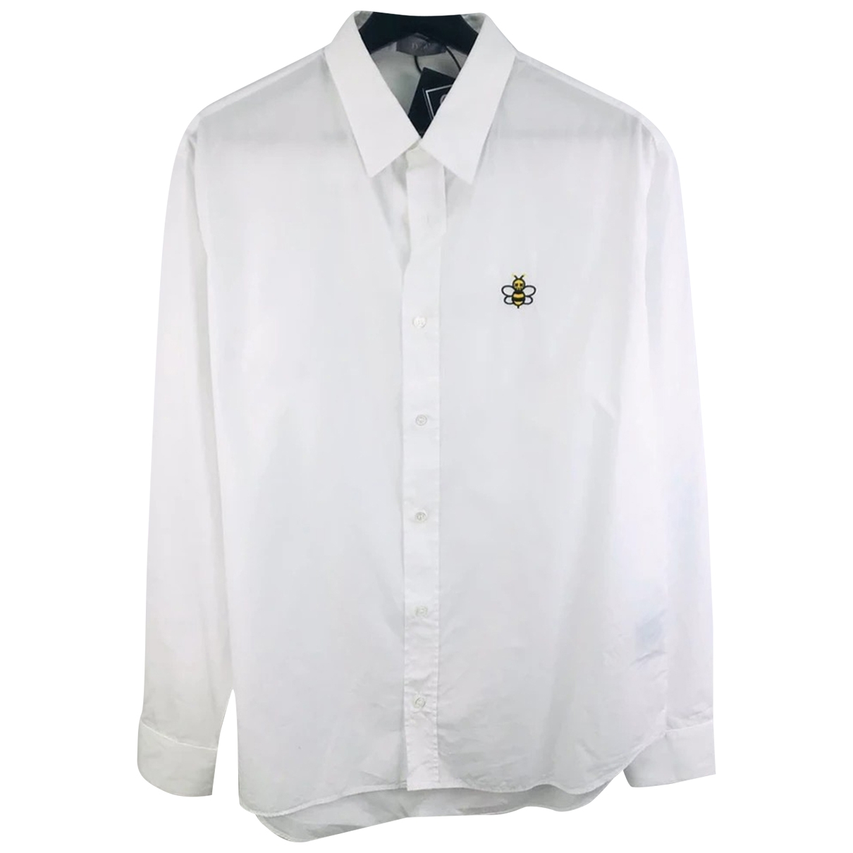 Dior Homme \N White Cotton Shirts for Men 41 EU (tour de cou / collar)