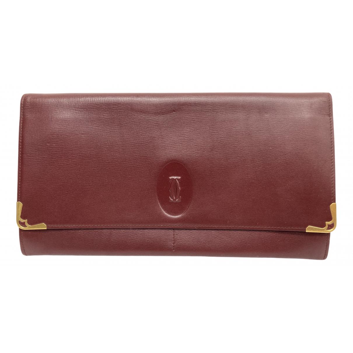 Cartier \N Clutch in  Rot Leder