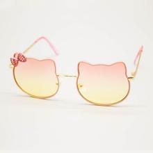 Toddler Kids Bow Decor Metal Frame Sunglasses