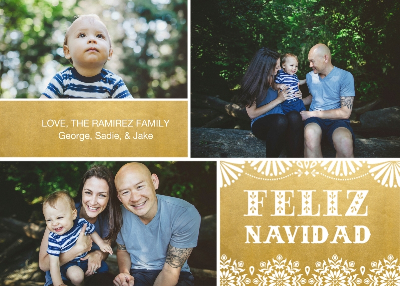 Christmas Photo Cards Flat Matte Photo Paper Cards with Envelopes, 5x7, Card & Stationery -Feliz Navidad Fun