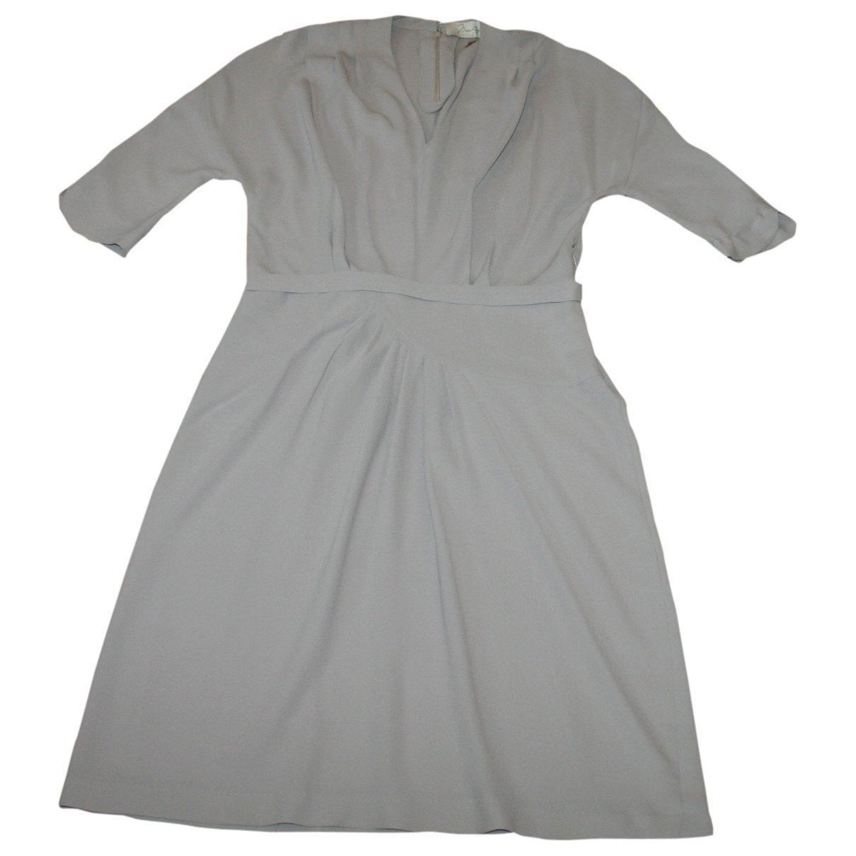 Max Azria \N Kleid in  Grau Seide