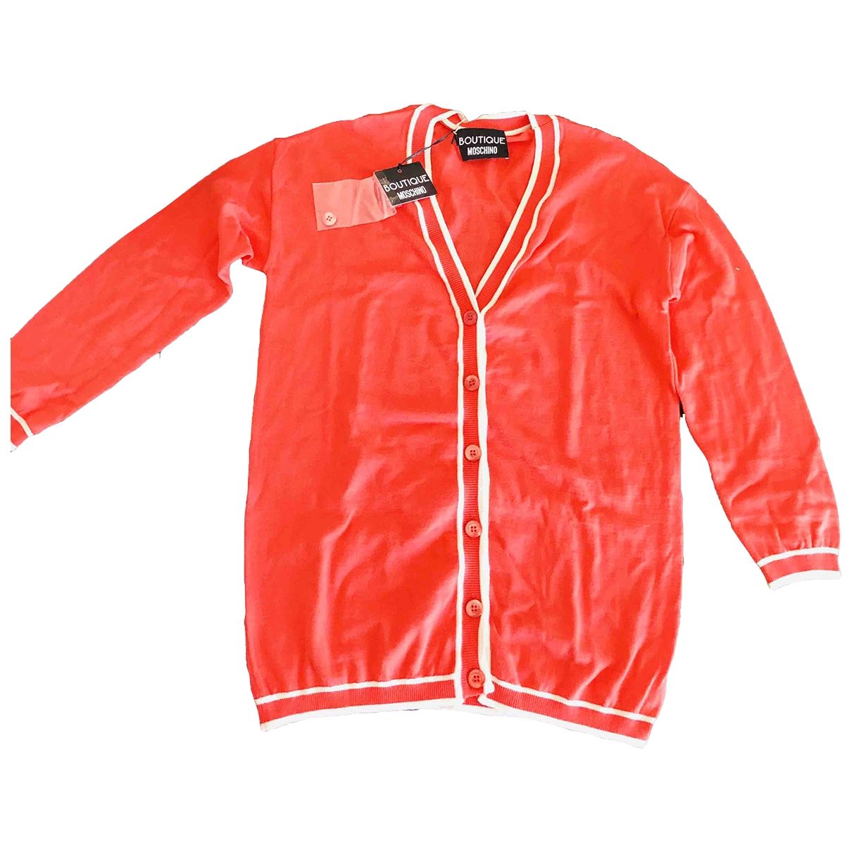 Moschino - Pull   pour femme en laine - rouge