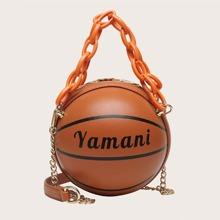 Basketball faermige Umhaengetasche