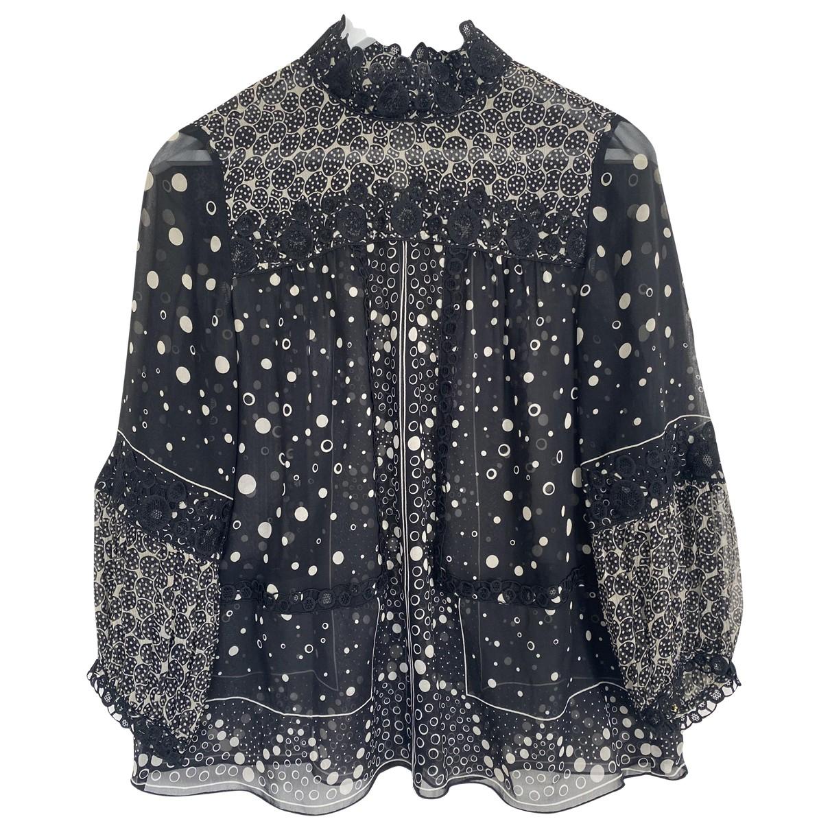 Anna Sui \N Black Silk  top for Women S International