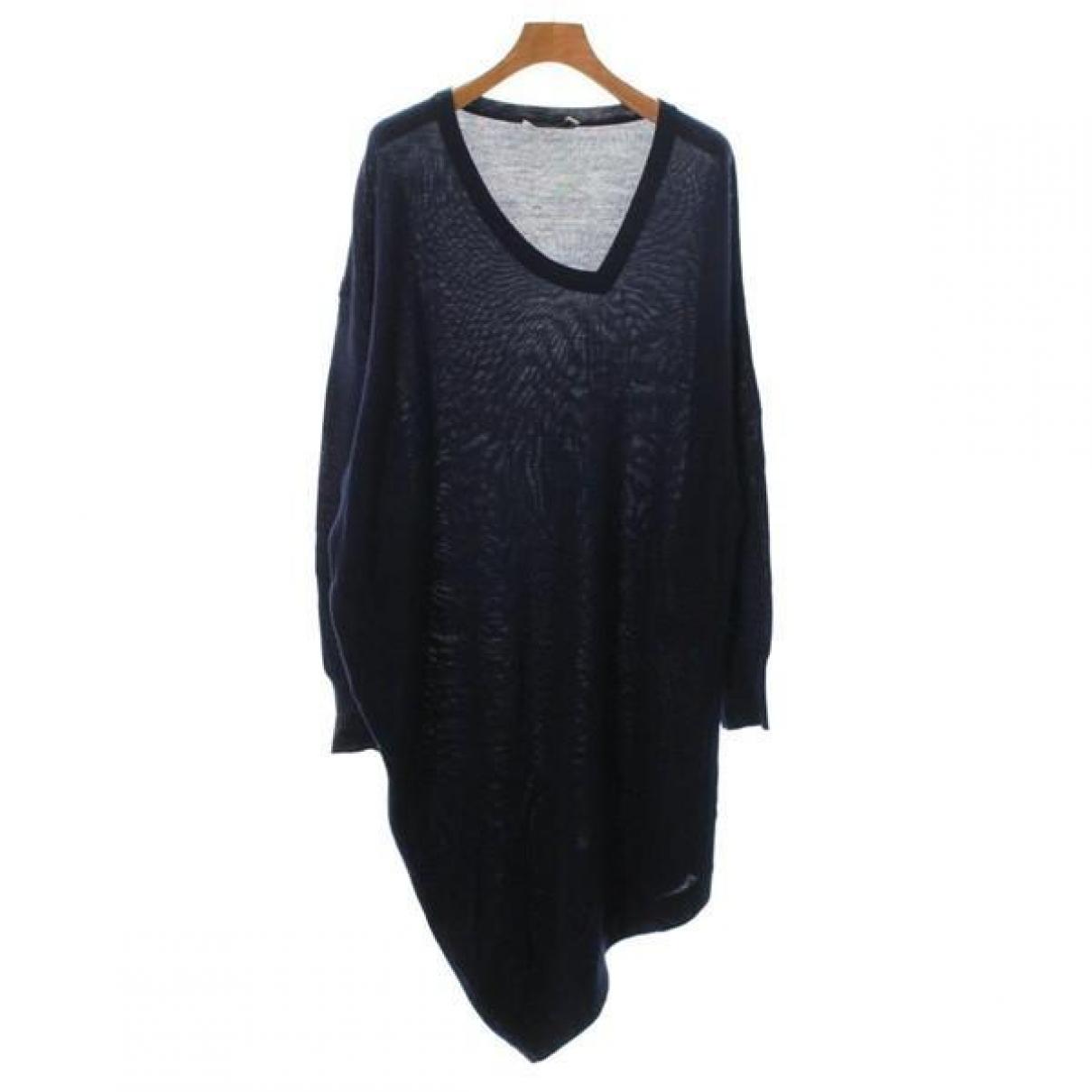 Balenciaga \N Kleid in  Marine Wolle