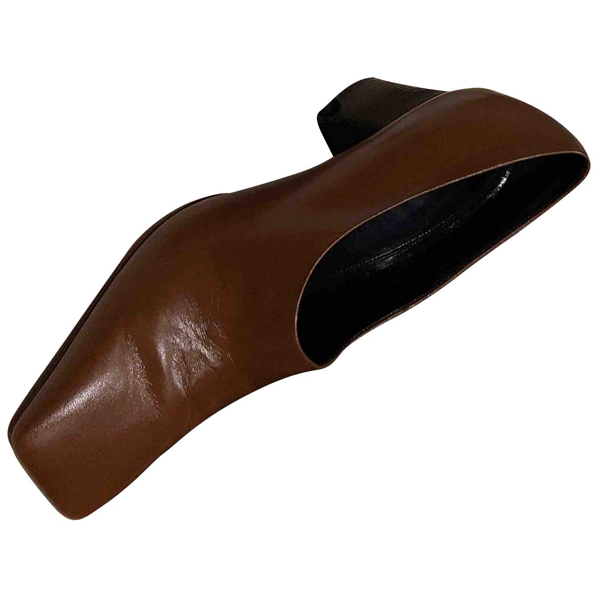 Celine \N Camel Leather Heels for Women 36.5 EU