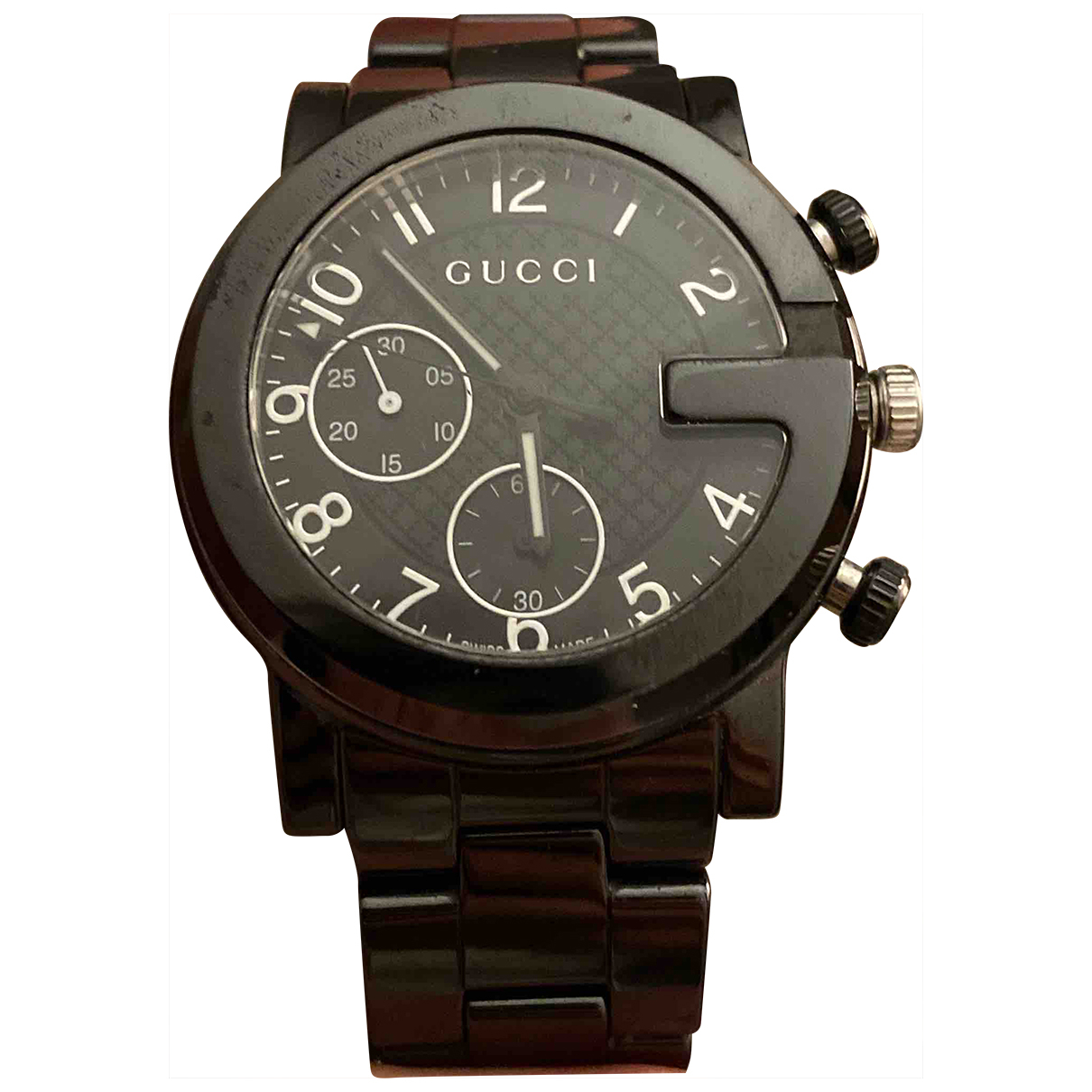 Gucci \N Uhr in  Metallic Keramik