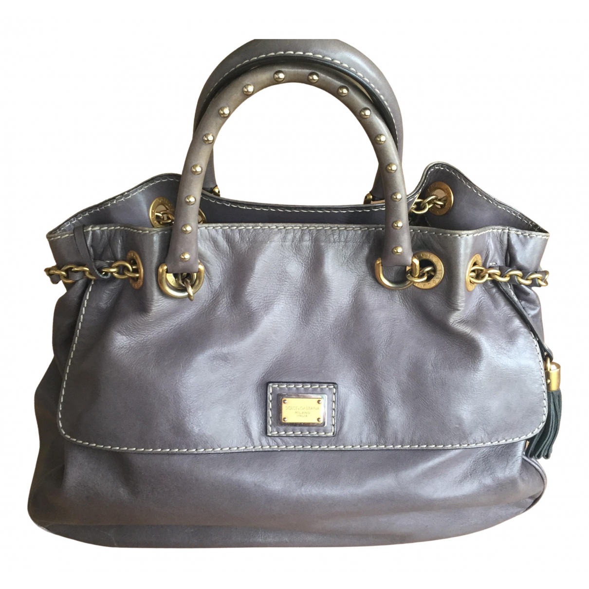 Dolce & Gabbana \N Anthracite Leather handbag for Women \N
