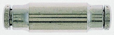 Norgren Tube-to-Tube PNEUFIT Pneumatic Straight Tube-to-Tube Adapter, Push In 10 mm to Push In 10 mm (5)