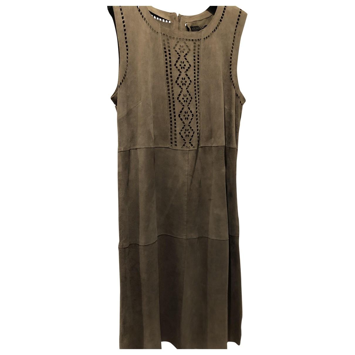 Giorgio & Mario \N Khaki Suede dress for Women 38 FR