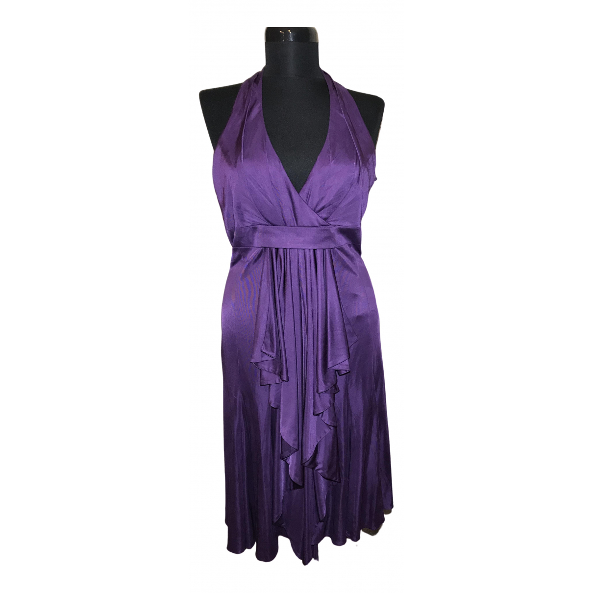 Karen Millen \N Kleid in  Lila Viskose