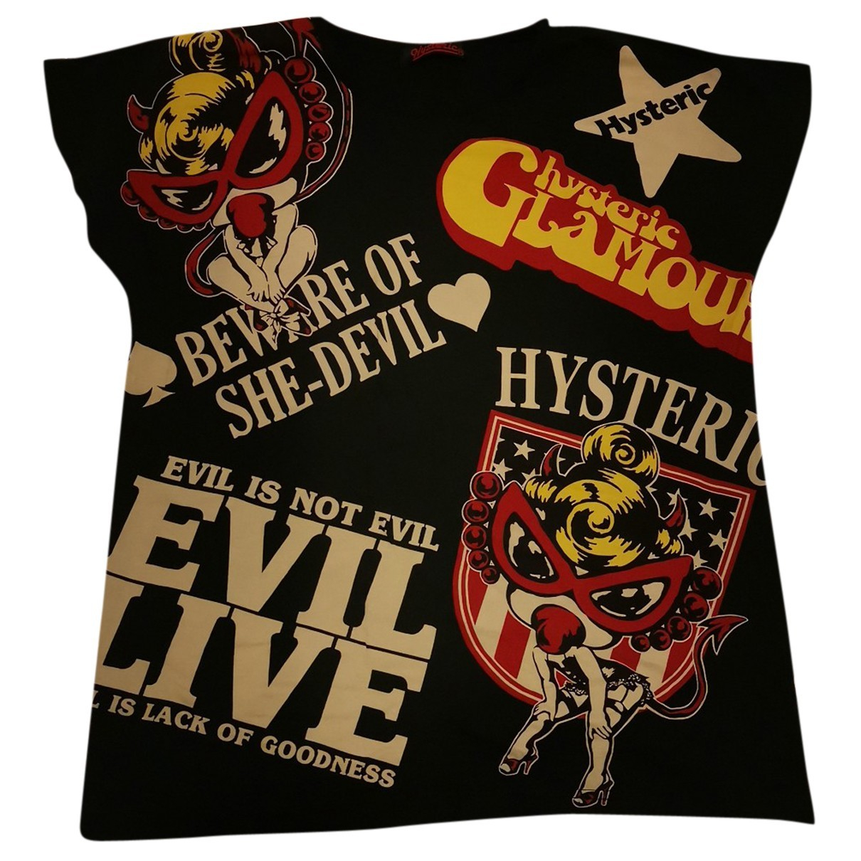 Hysteric Galmour N Black Cotton  top for Women One Size International