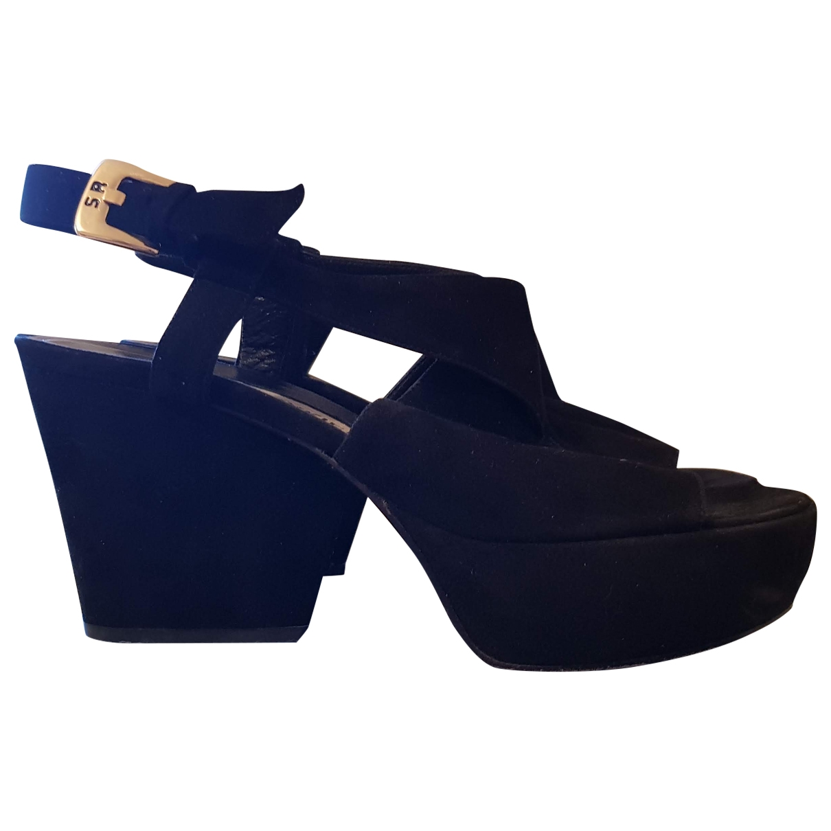 Sonia Rykiel \N Black Suede Sandals for Women 36 EU