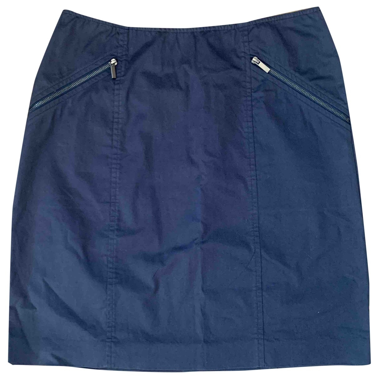 Theory \N Navy Cotton skirt for Women 0 0-5