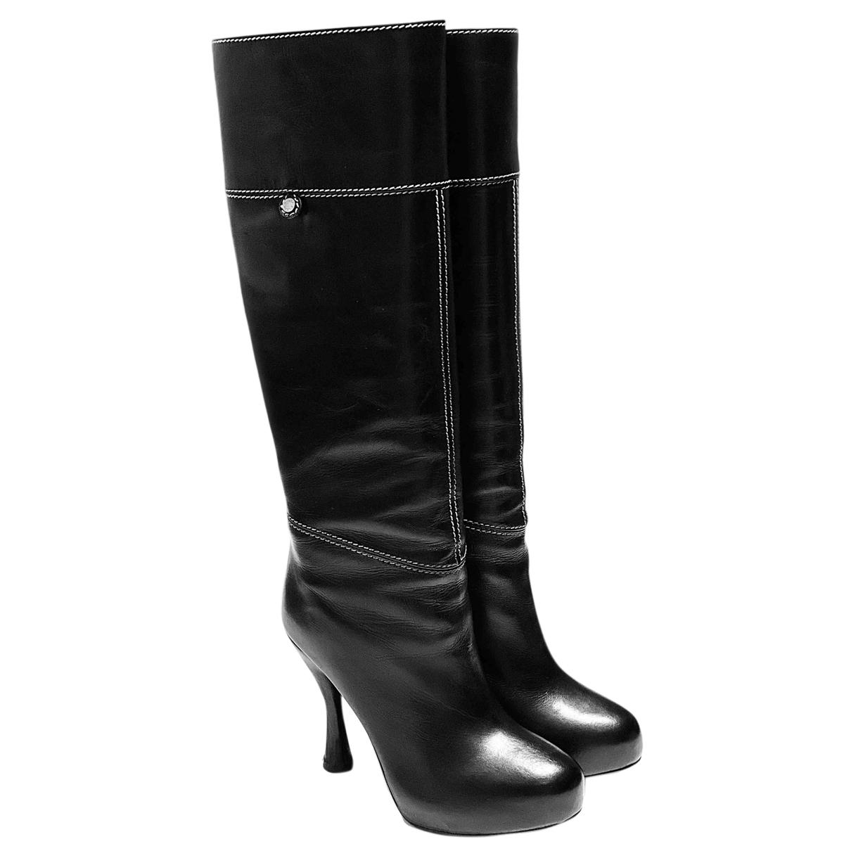 Bally - Bottes   pour femme en cuir - noir