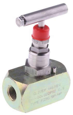 RS PRO Line Mounting Hydraulic Flow Control Valve, G 1/4, 700 bar