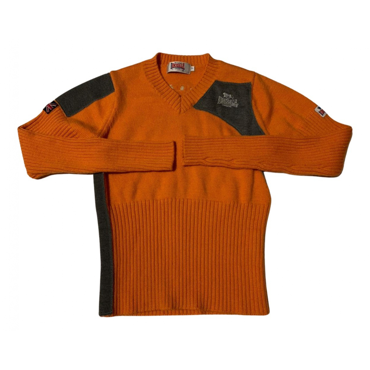 Non Signé / Unsigned N Orange Wool Knitwear for Women S International