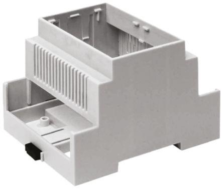 CAMDENBOSS Vented Sides Enclosure Type CNMB Series , 106 x 58 x 90mm, Polycarbonate DIN Rail Enclosure, Grey