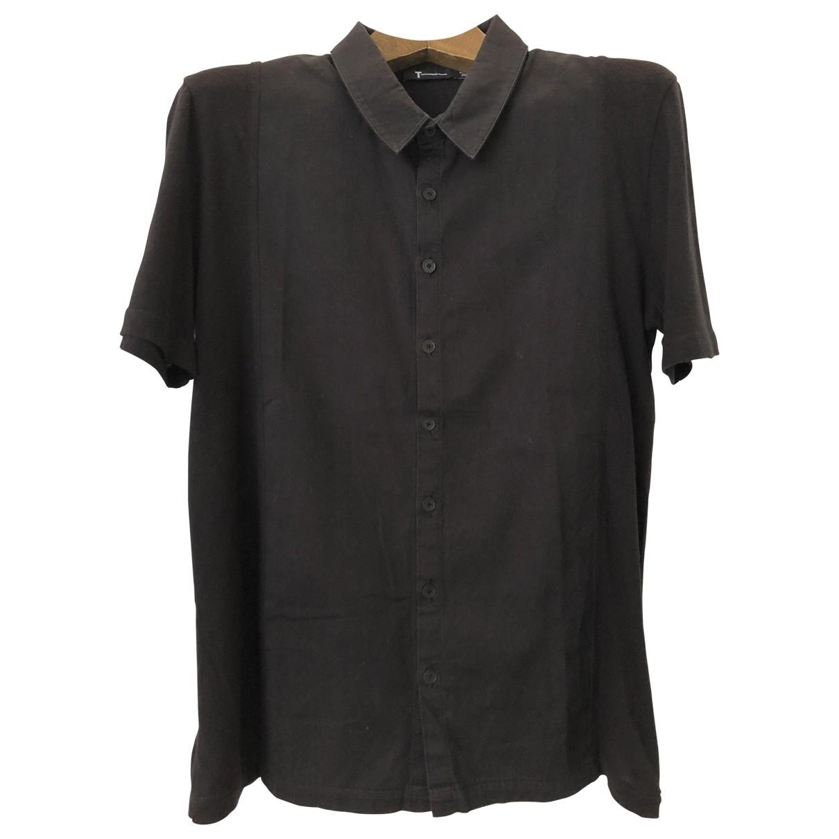 T By Alexander Wang - Chemises   pour homme en coton - noir