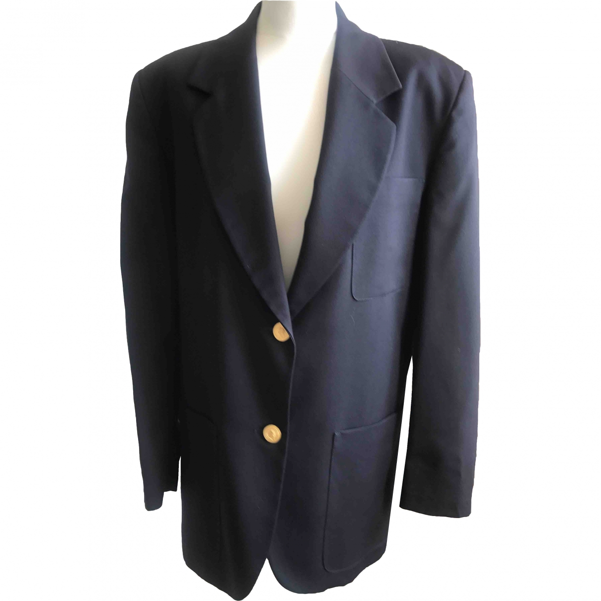 Non Signé / Unsigned \N Navy Wool jacket for Women M International