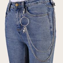 Mehrschichtige Hosenkette mit Baer Anhaenger
