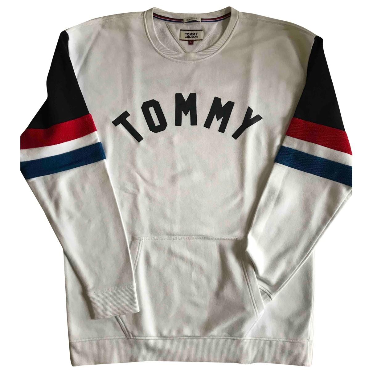 Tommy Jeans \N Pullover.Westen.Sweatshirts  in  Weiss Baumwolle
