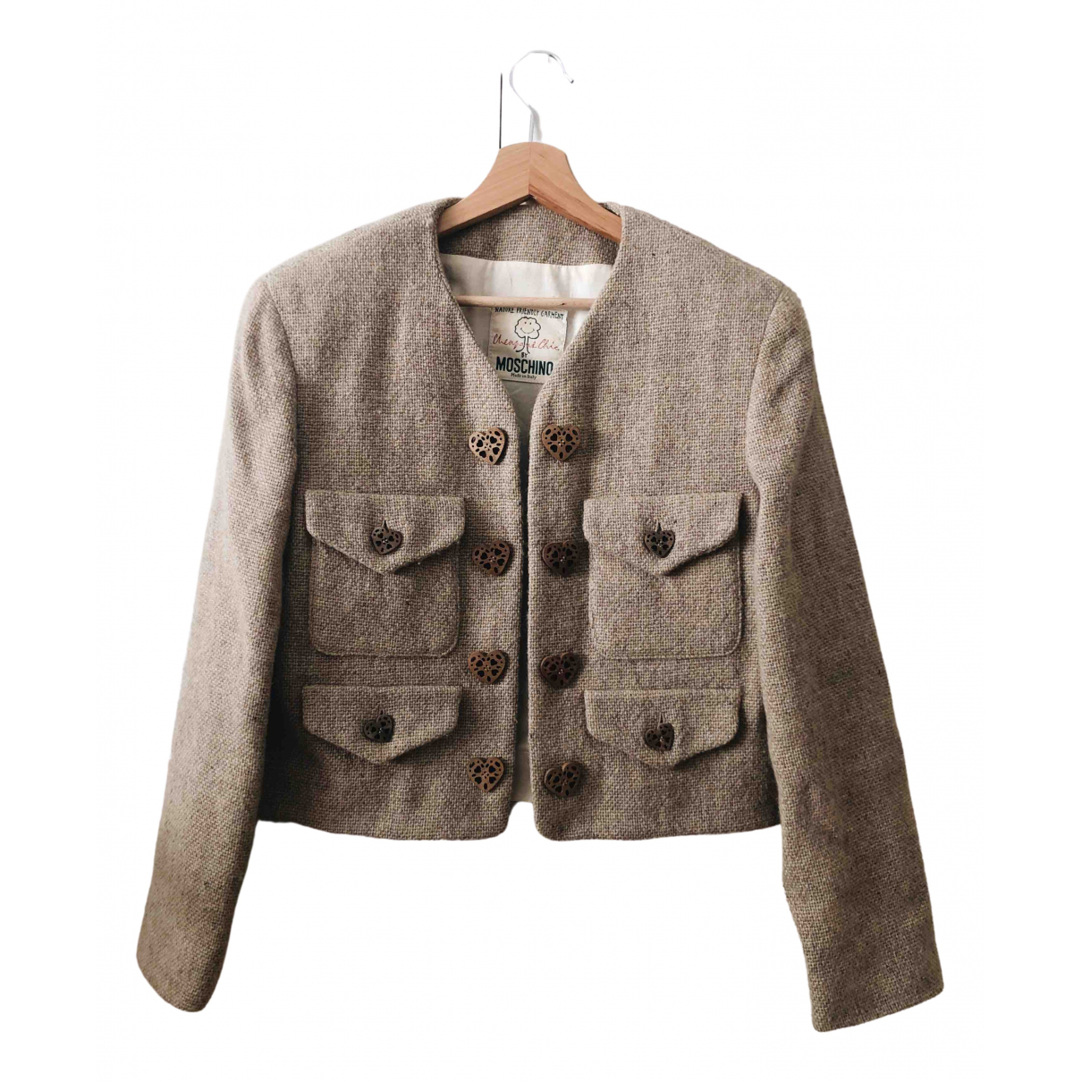 Moschino Cheap And Chic - Veste   pour femme en laine - beige