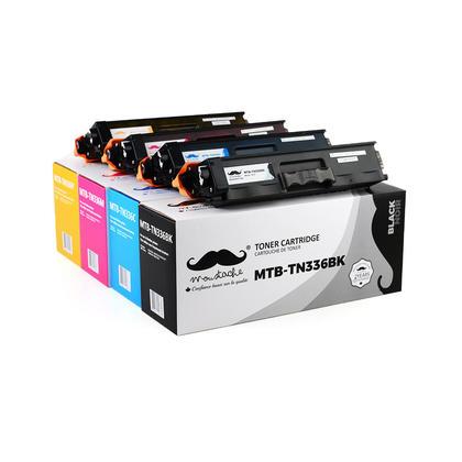 Compatible Brother HL-L8350CDW cartouches de toner noir/cyan/magenta/jaune de Moustache, 4-paquet combo - haut rendement