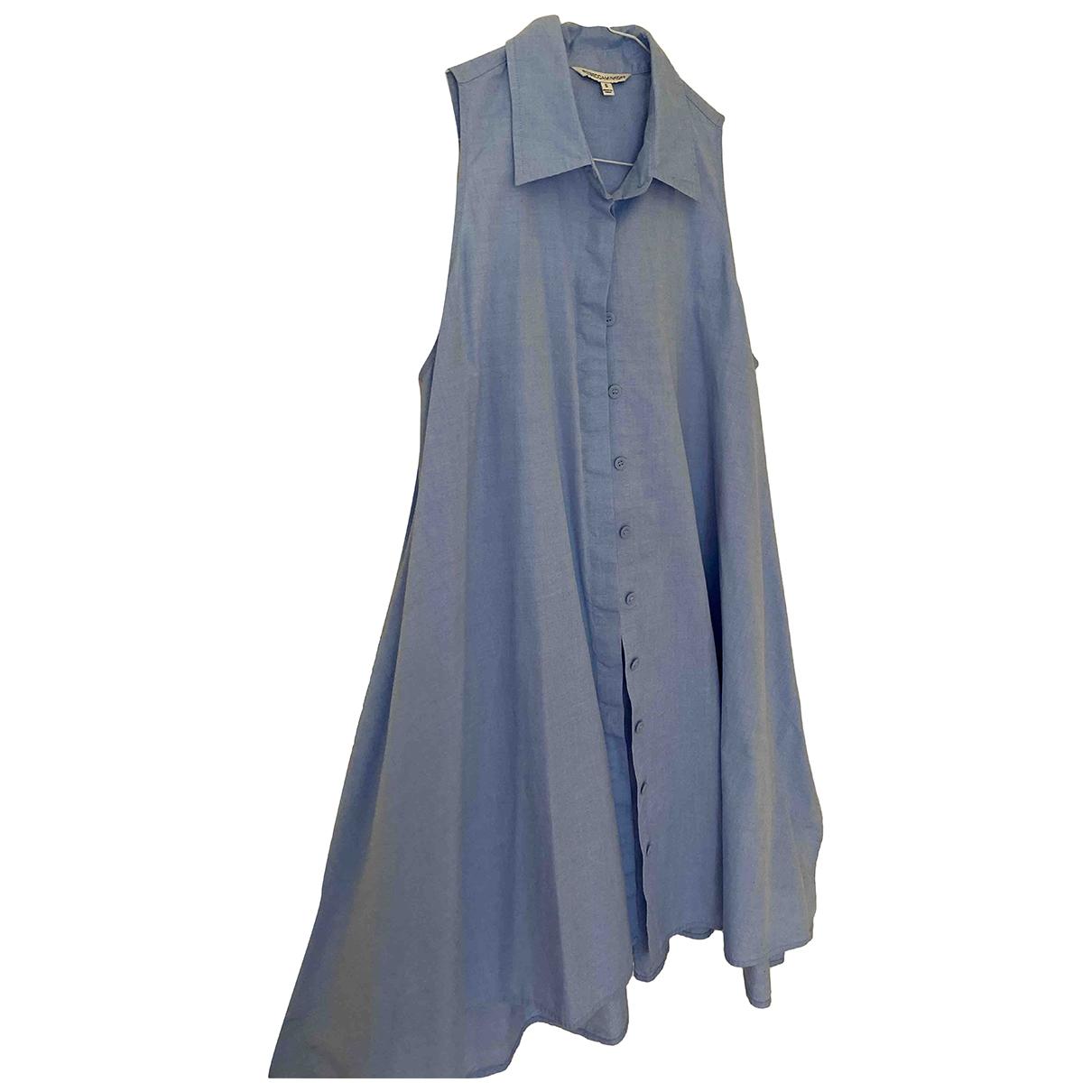 Rebecca Minkoff \N Kleid in  Blau Baumwolle