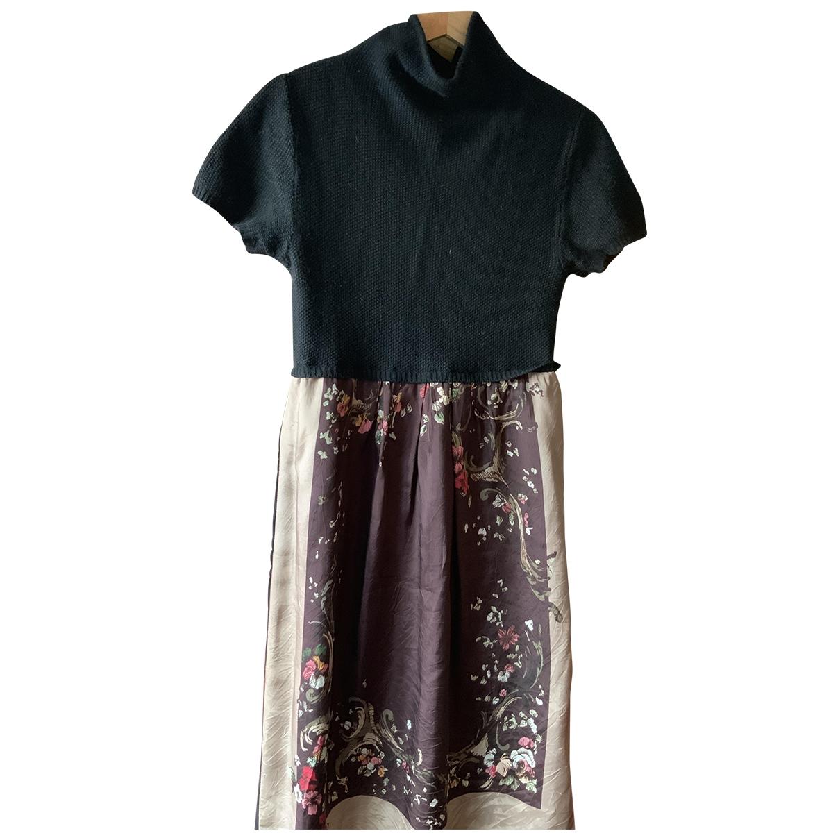 Twin Set - Robe   pour femme en laine - noir