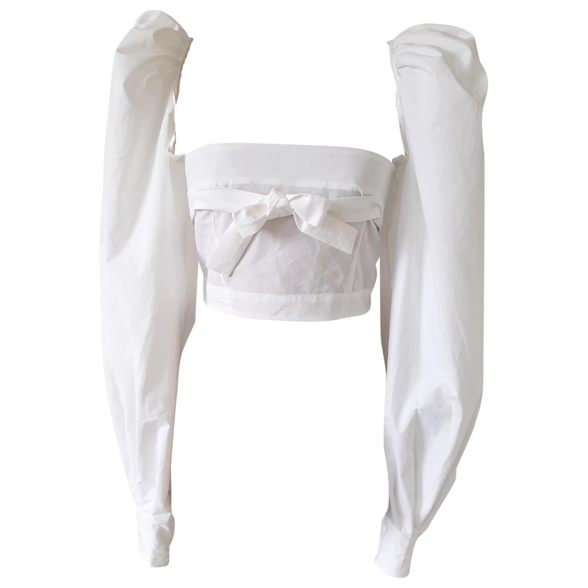 Brognano - Top   pour femme en coton - blanc