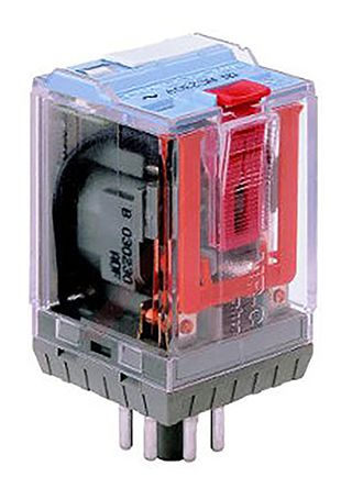 Turck , 24V dc Coil Non-Latching Relay 3PDT, 10A Switching Current Plug In