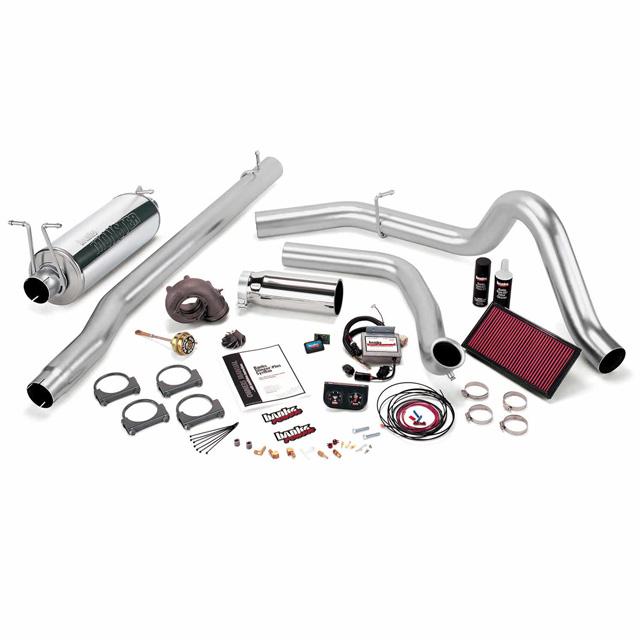 Stinger Plus Bundle Power System W/Single Exit Exhaust Chrome Tip 99.5-03 Ford 7.3L F450/F550 Automatic Transmission Banks Power 47456