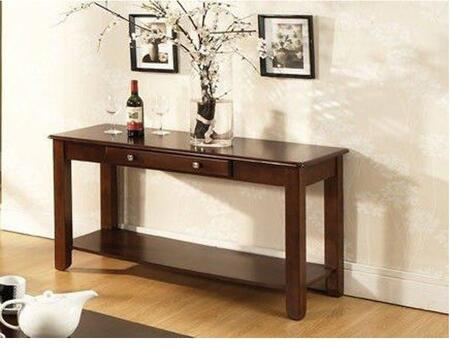 Nelson Collection NL300SC 18 Sofa Table with One Storage Drawer and Bottom Shelves in Cherry