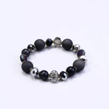 Armband mit Stein & Kristall und Perlen