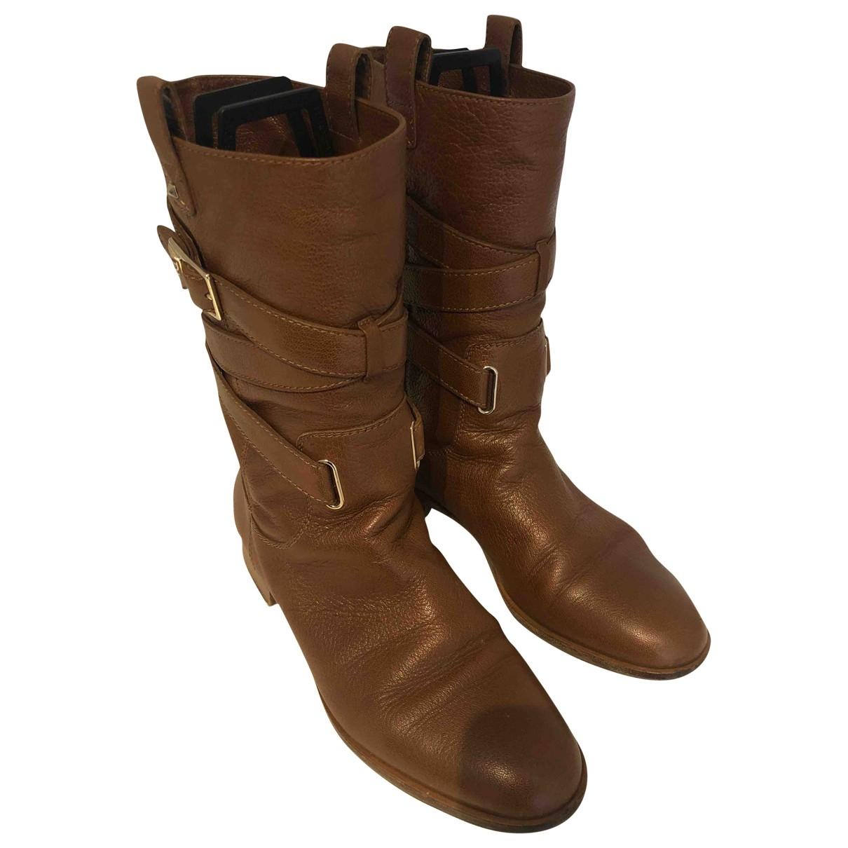 Dior - Bottes   pour femme en cuir - marron