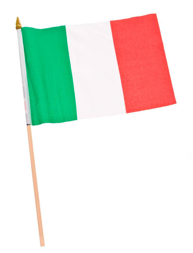Flagge Italien am Stab 30x20cm Farbe: gruen/weiss
