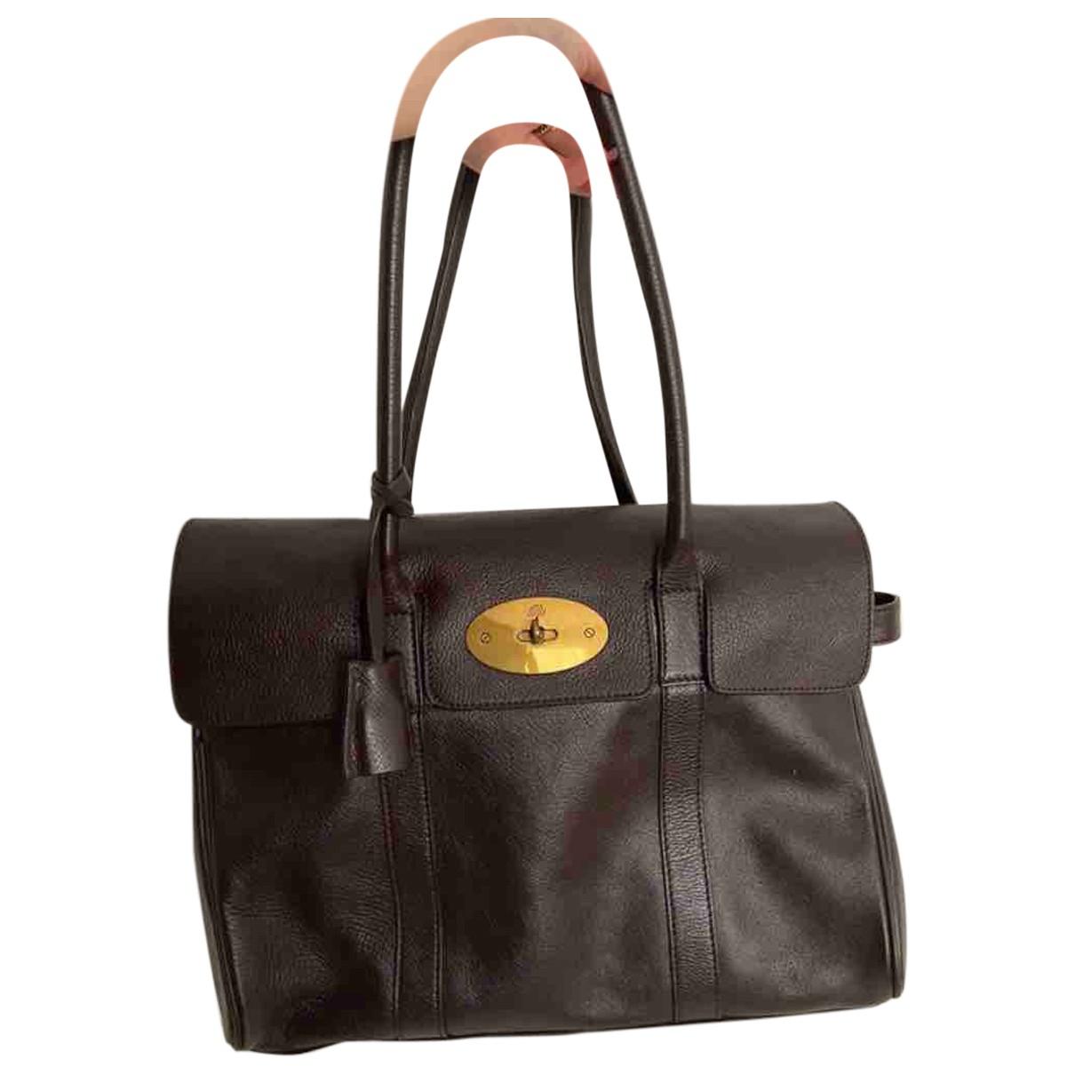 Mulberry Bayswater Handtasche in  Braun Leder
