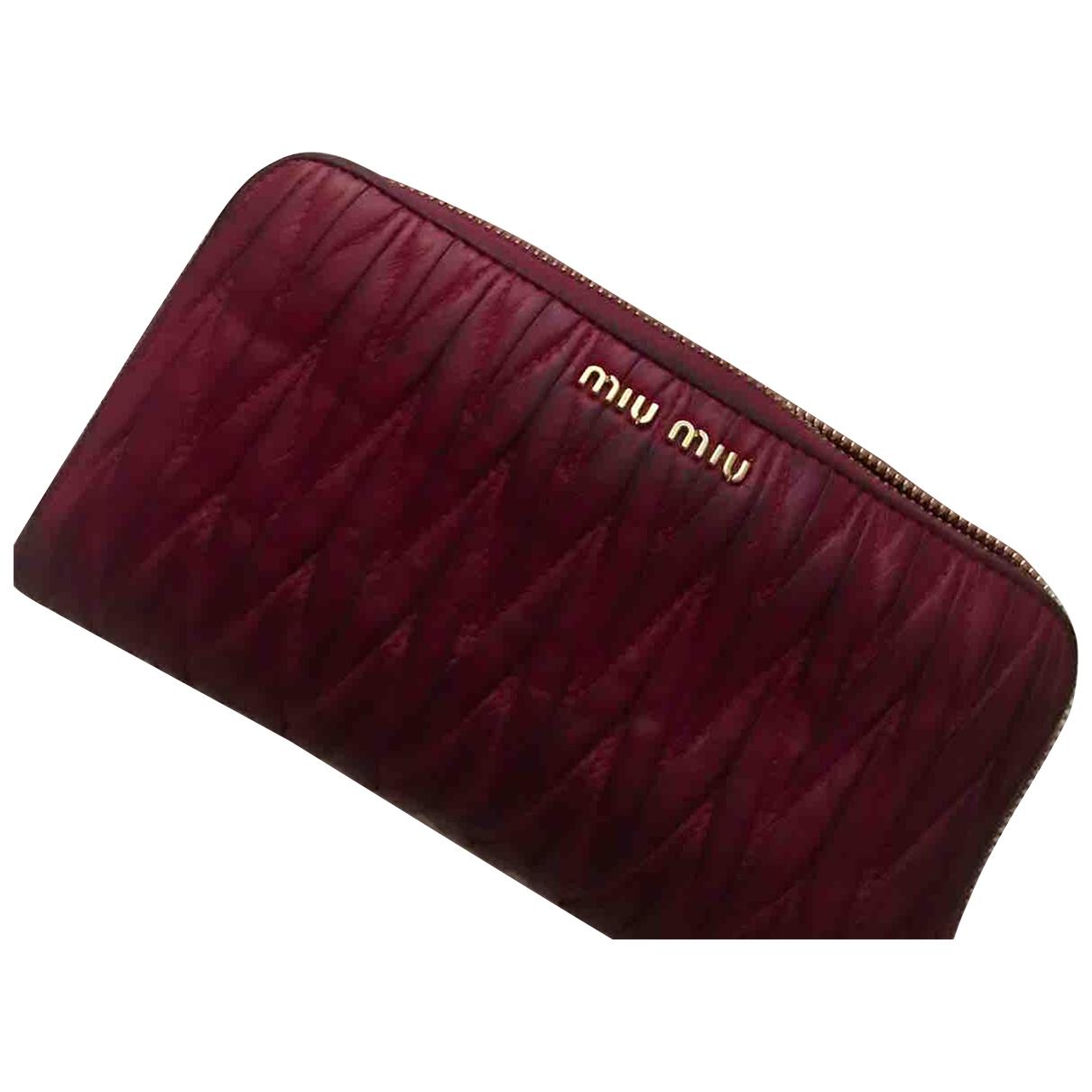 Miu Miu N Pink Leather wallet for Women N
