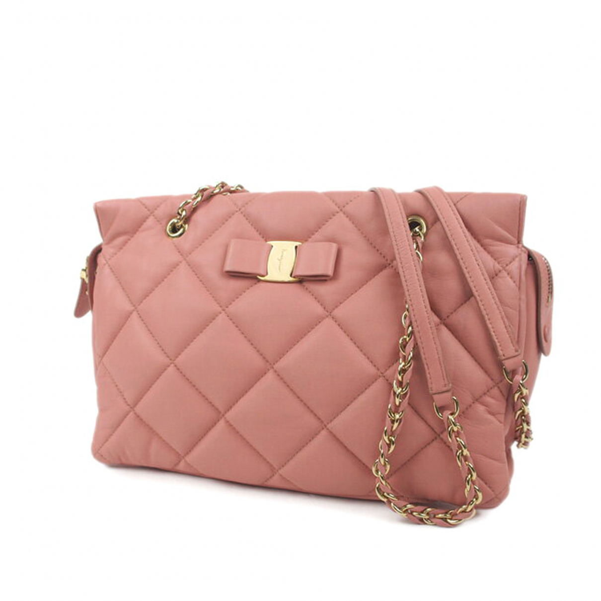 Salvatore Ferragamo N Pink Leather handbag for Women N