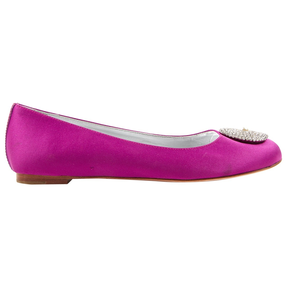 Non Signé / Unsigned \N Pink Cloth Flats for Women 38 EU