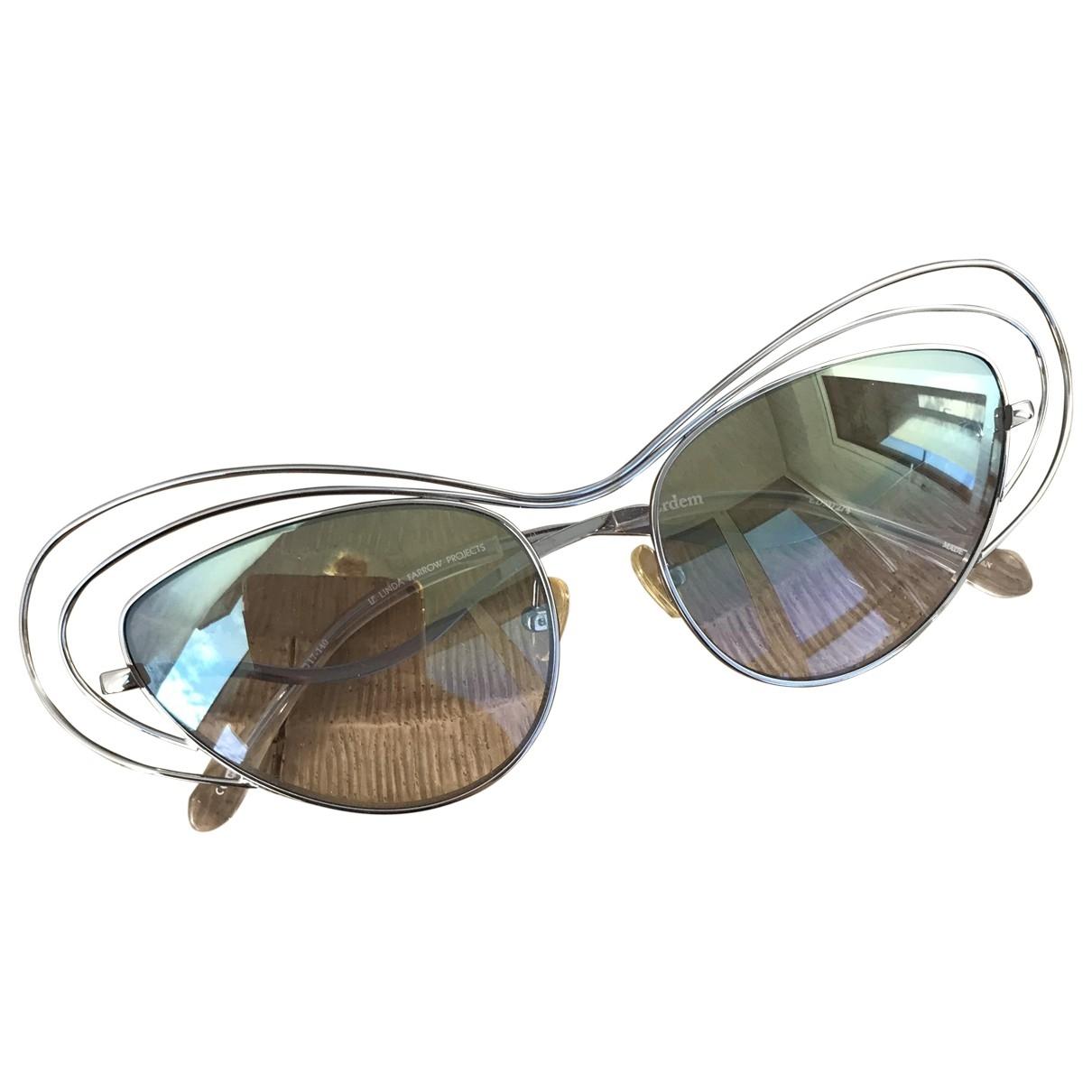 Linda Farrow \N Metallic Metal Sunglasses for Women \N