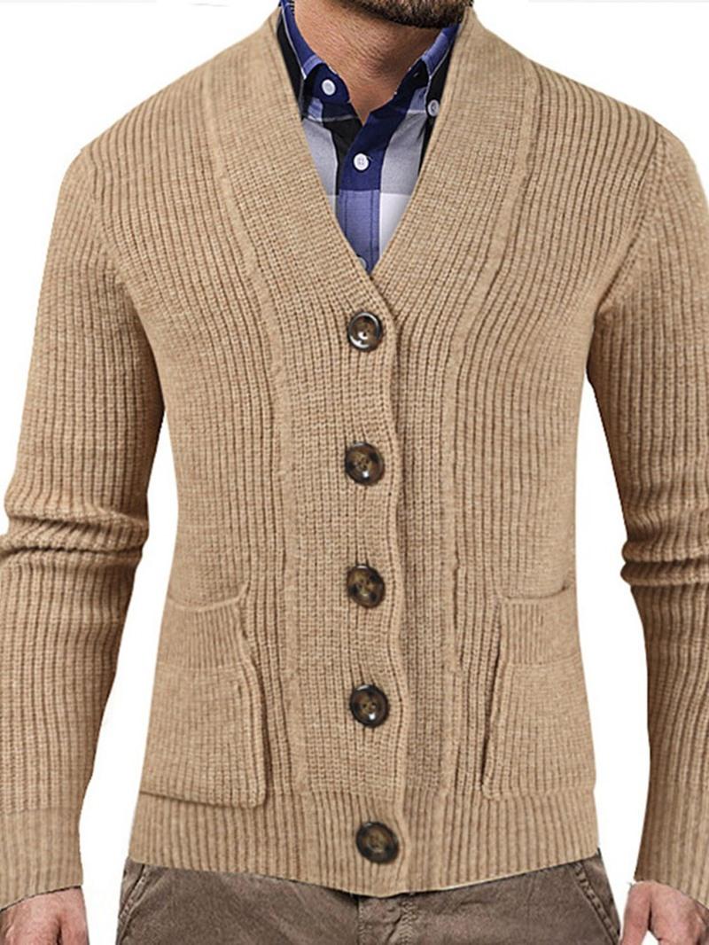 Ericdress V-Neck Plain Standard Men's Casual Sweater